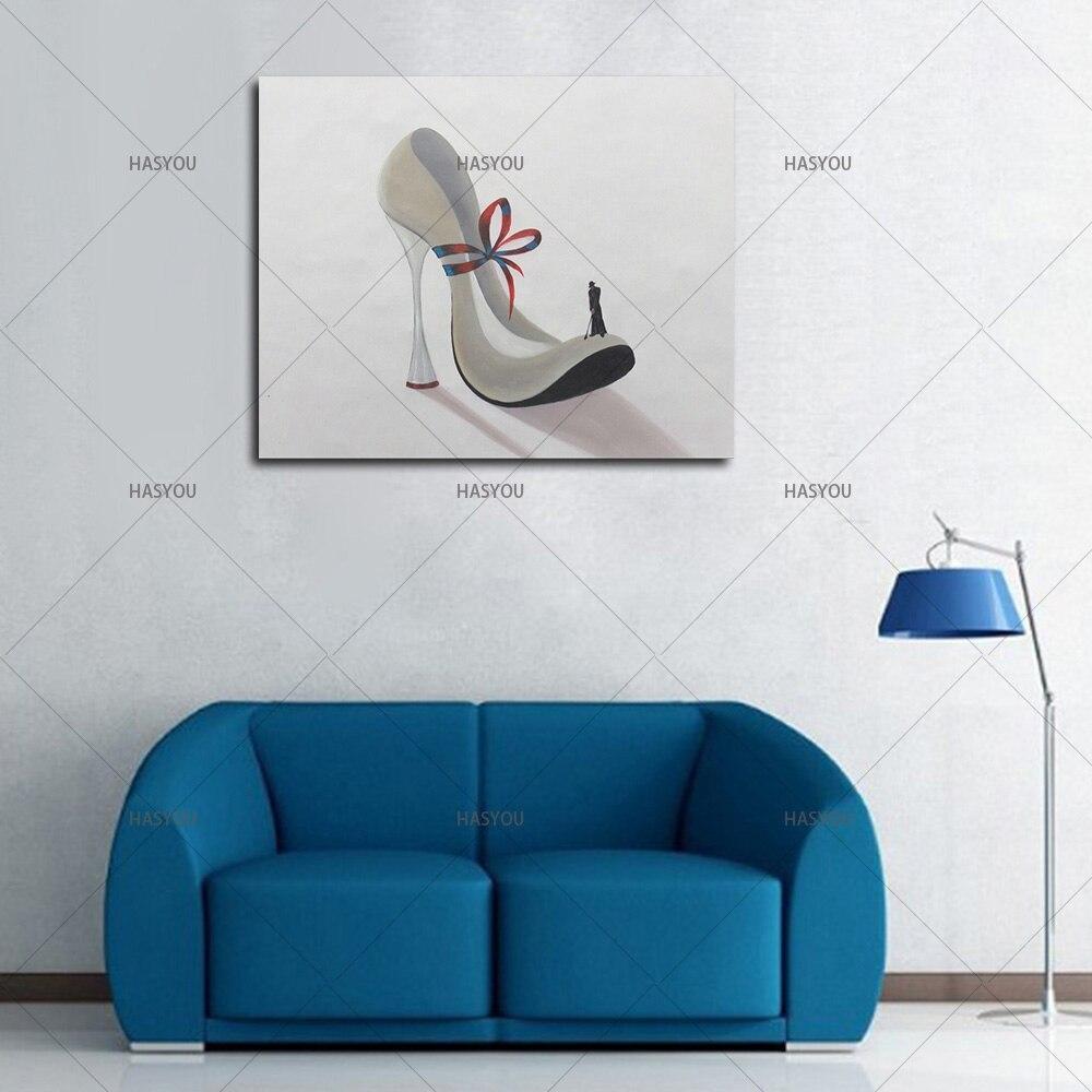 Hohe Qualität handgemalte schuhe Bild Moderne Abstrakte Ölgemälde ...