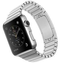 1:1 como original de acero inoxidable correa de reloj 22mm 24mm para iwatch apple watch 38mm 42mm band pulsera de la correa con adaptador de enlace