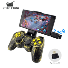 Data Frog controlador inalámbrico 2.4g Android GamePad joystick tipo C para Android Teléfono Inteligente joypad para PC para PS3 TV box