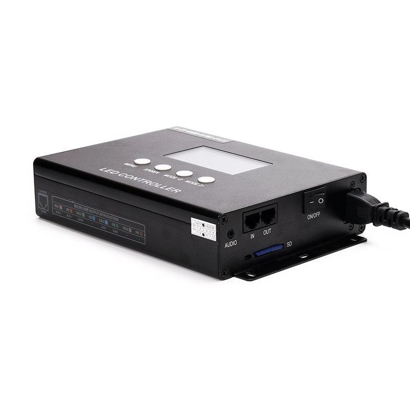 Профессиональный программируемый пиксельный светильник контроллер K SY 408, 8 канальный выход 8192 точек поддержки, с функцией управления голос... - 2