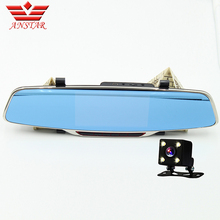 """Newest Anstar Car-detector H802 Car DVR Rearview Mirror 5.0"""" IPS Touch Reverse FHD 1080P parking Video recorder Dual Camera"""