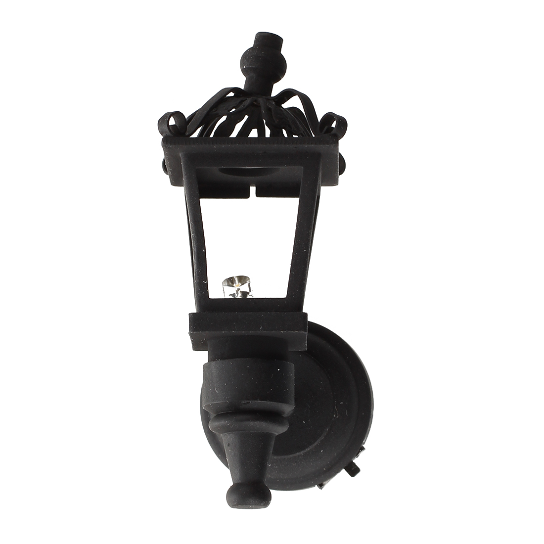 Black Metal <font><b>1</b></font>/ <font><b>12</b></font> Dollhouse Miniature LED Wall Light Model image