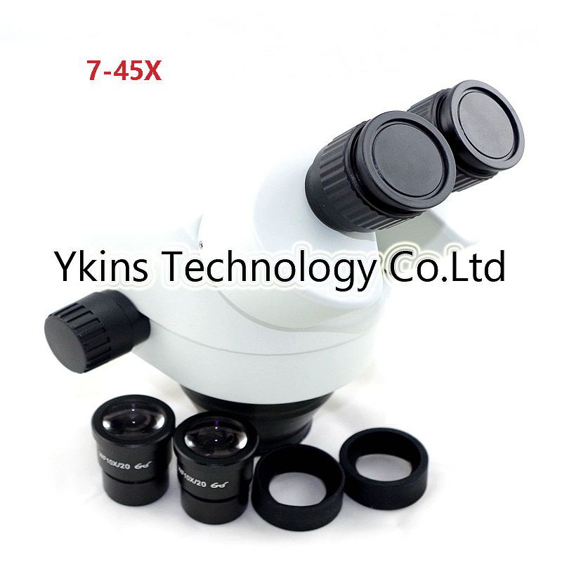 7X 45X binocular microscope industrial zoom microscope head microscope tool for repairing computer mobile phones