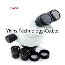 7X-45X микроскоп бинокулярный промышленные zoom головка микроскопа, инструмент-микроскоп для ремонта компьютерных мобильных телефонов