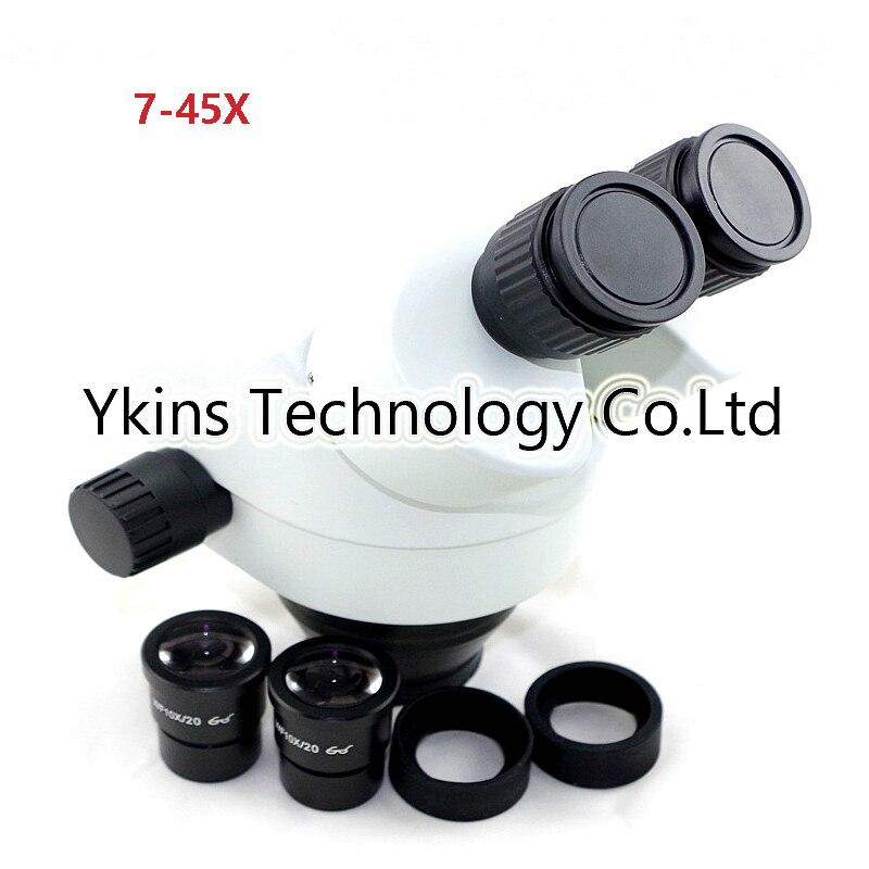 7X-45X binocular microscope industrial zoom microscope head, microscope tool for repairing computer mobile phones