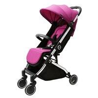 6.5 кг чехол Портативный свет Детские коляски/коляски, 4 колеса складные коляски, может сидеть и лежат Подпушка дети тележки