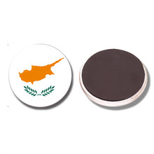 The Republic of Cyprus National Flag 30 MM Fridge Magnet Glass Dome Magnetic Refrigerator Stickers Note Holder Home Decoration(China)