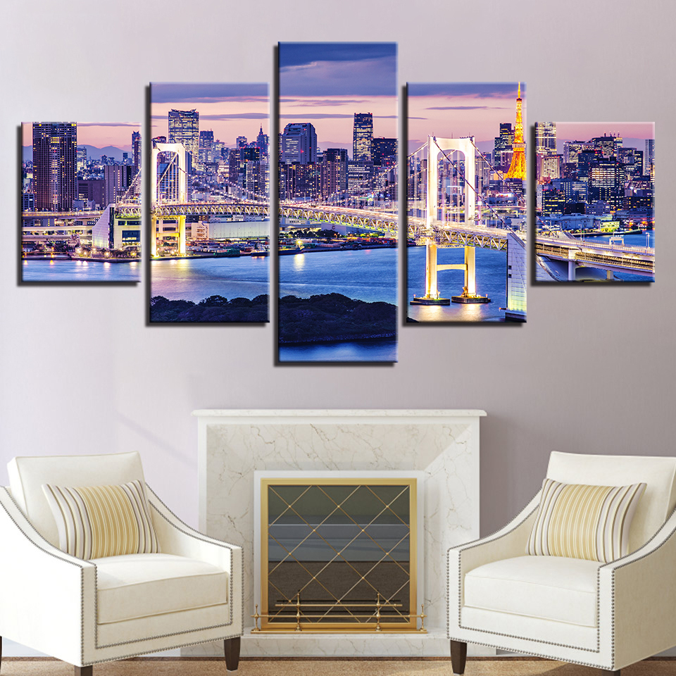 Modular Pictures For Living Room Canvas Painting 5 Panel