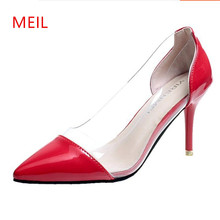 Pumps Women Shoes Pointed Toe Stiletto High Heel 2018 Ladies Sexy Heel Wedding Shoes Bride Female Party Block Heels Lolita Shoes 2019 fashion design women high heels ivory pearl wedding party shoes 3 inches heel bride shoes pointed toe ceremony event pumps