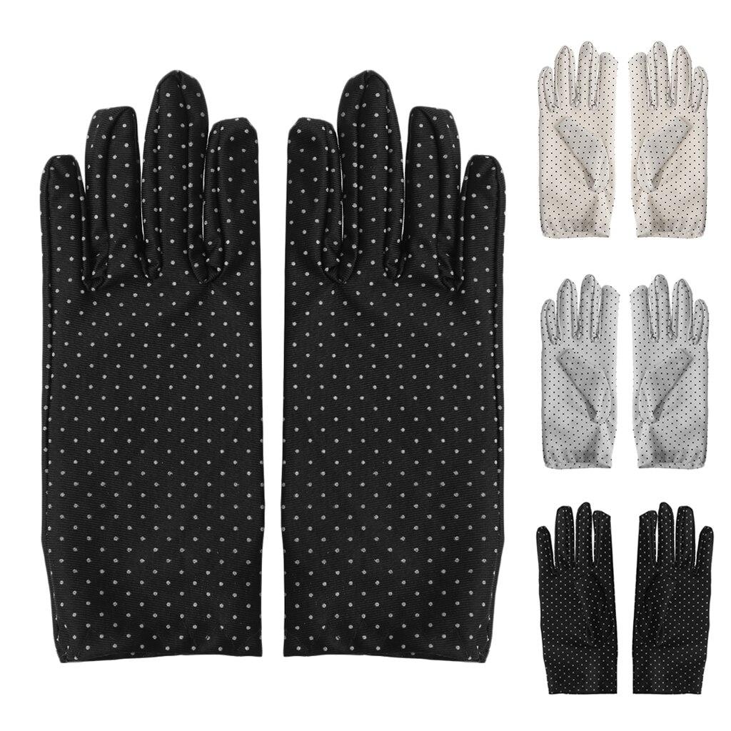 Female Women Summer Cotton Short Gloves Design Sun-shading Slip-resistant Gloves