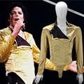 HOT MJ Michael Jackson Classic BAD Dangerous Jam Golden Body suit Costume Jacket pants For Performance Collection 1990S