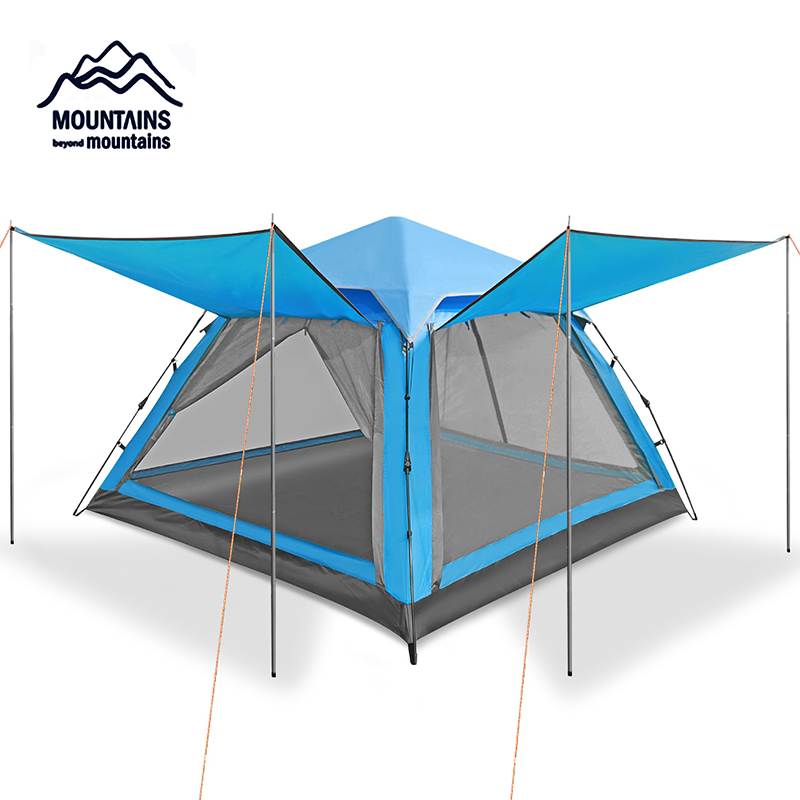 Outdoor 3-4 person Automatic Waterproof Windproof Anti- Mosquito Double Layer Breathable Camping Beach Family Travel TentOutdoor 3-4 person Automatic Waterproof Windproof Anti- Mosquito Double Layer Breathable Camping Beach Family Travel Tent