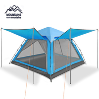 Outdoor 3 4 person Automatic Waterproof Windproof Anti Mosquito Double Layer Breathable Camping Beach Family Travel Tent