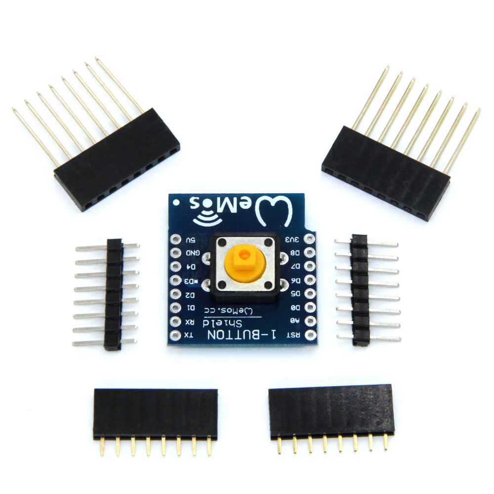 <font><b>10pcs</b></font>/lot 1-Button Shield For <font><b>Esp32</b></font> For D1 Mini Button image