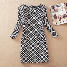 2016 Floral Vintage Women Dress Autumn Spring Casual Female Pocket Long Sleeve Dresses Hot Sale Dress