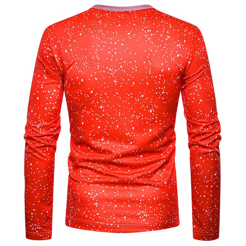 Ugly Navidad camiseta hombres 2018 divertido 3D falso dos piezas estampado Navidad camiseta de disfraces hombre Hip Hop Streetwear camiseta Homme