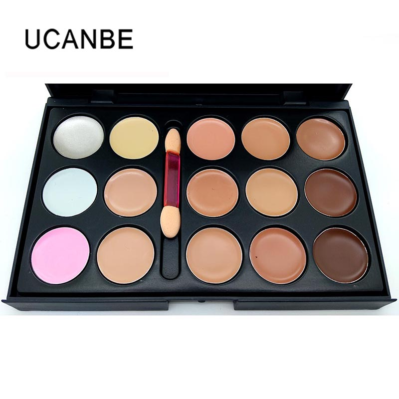 Ucanbe Brand 15 Colors Cream Concealer Palette Professional Camouflage Face Contour Makeup With