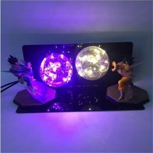 Image 2 - Dragon Ball Figure AC 110V/220V LED Table Lamp Optional Lighting Color Replaceable Light Bulb Cartoon Model Night Light