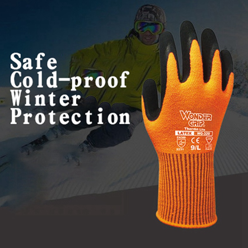 Wonder Grip Safety Work Gloves2231Thermo Latex Double Palm Coating Gloves Cold Resist Warm Cold-proof Winter Protection antiskidWonder Grip Safety Work Gloves2231Thermo Latex Double Palm Coating Gloves Cold Resist Warm Cold-proof Winter Protection antiskid