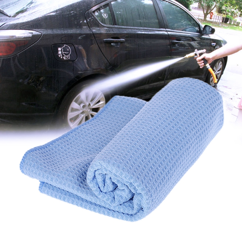 Large Microfiber Car Washing Towel Super Absorbent Cloth Premium Waffle Weave