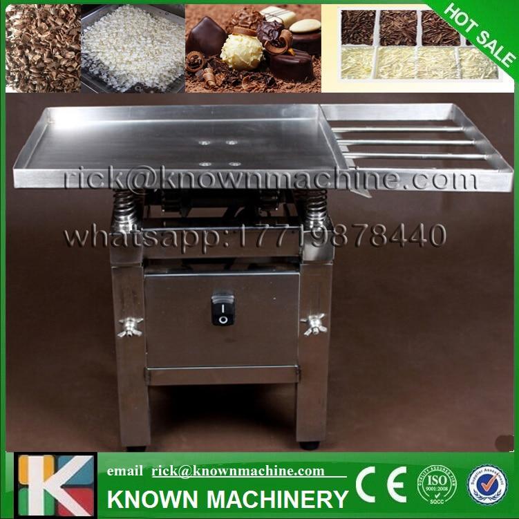 Die lebensmittelqualität edelstahl 45 Watt Schokolade Vibration tabelle maschine/schokoladetemperierung/schmelzen/gießmaschinen freies verschiffen