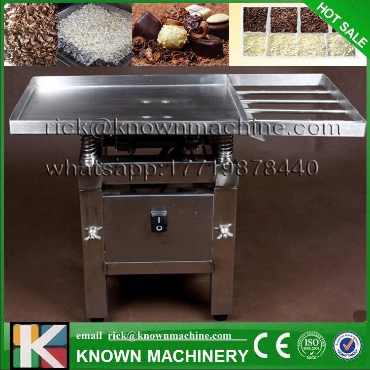 Il commestibile in acciaio inox 45 W Cioccolato tavola Vibrante macchina/Cioccolato rinvenimento/fusione/versando macchina di trasporto libero
