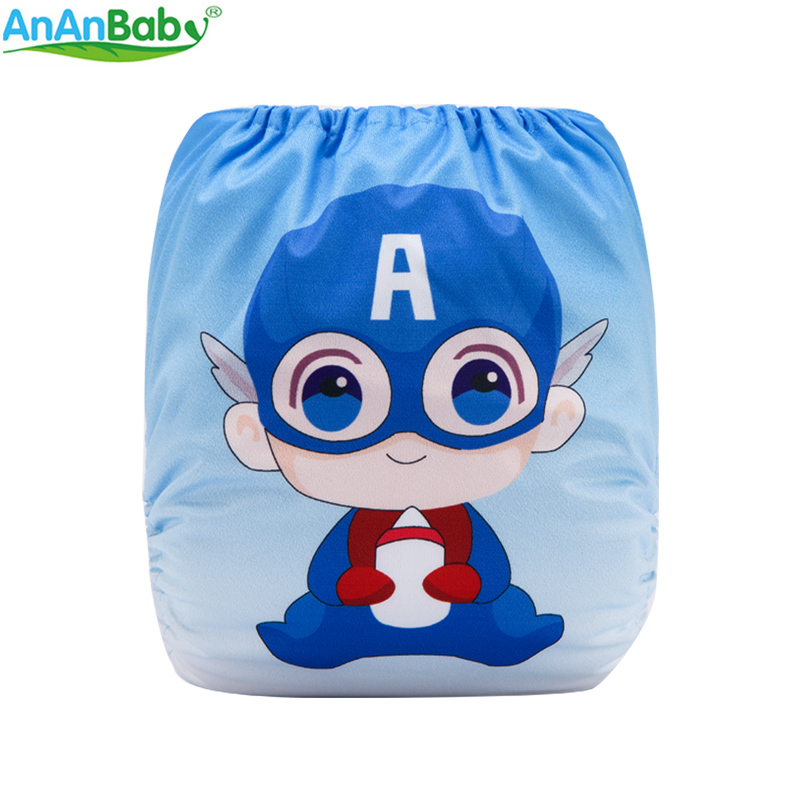 {AnAnBaby}New Arrival! 2018 New Ditital Position Printed Pocket Diapers Waterproof PUL Cloth Diaper With 1pc Microfiber Insert