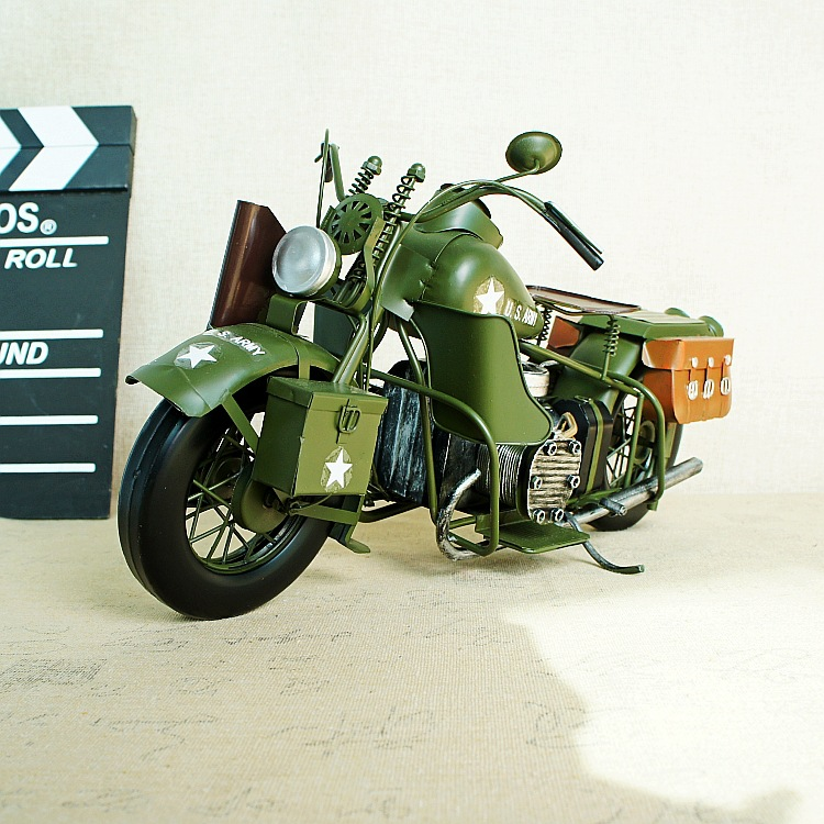 Handmade Army Green Liberation Motocross Decoration Boy Gift 004SMT home decoration accessories for living room