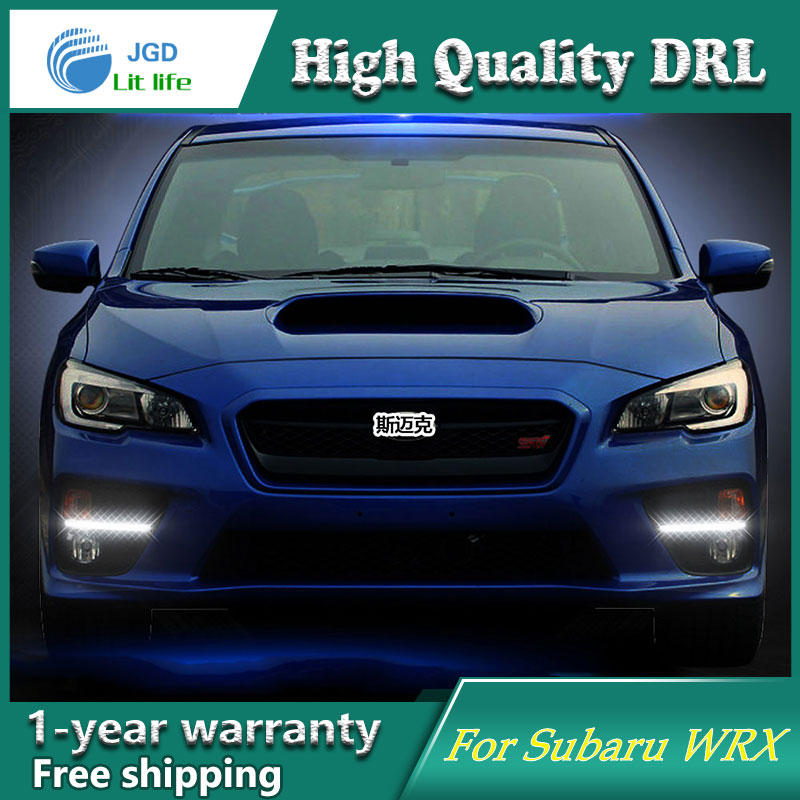 Free shipping !12V 6000k LED DRL Daytime running light case for Subaru WRX 2015 2016 fog lamp frame Fog light Car styling free shipping 12v 6000k led drl daytime running light case for subaru wrx 2015 2016 fog lamp frame fog light car styling