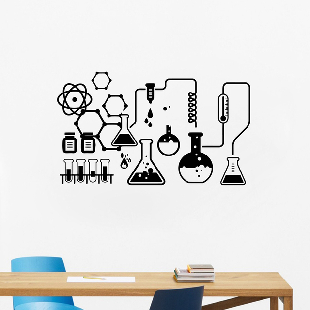 Science Chemical Lab Vinyl Wall Stickers Art Decor  70558f5e8