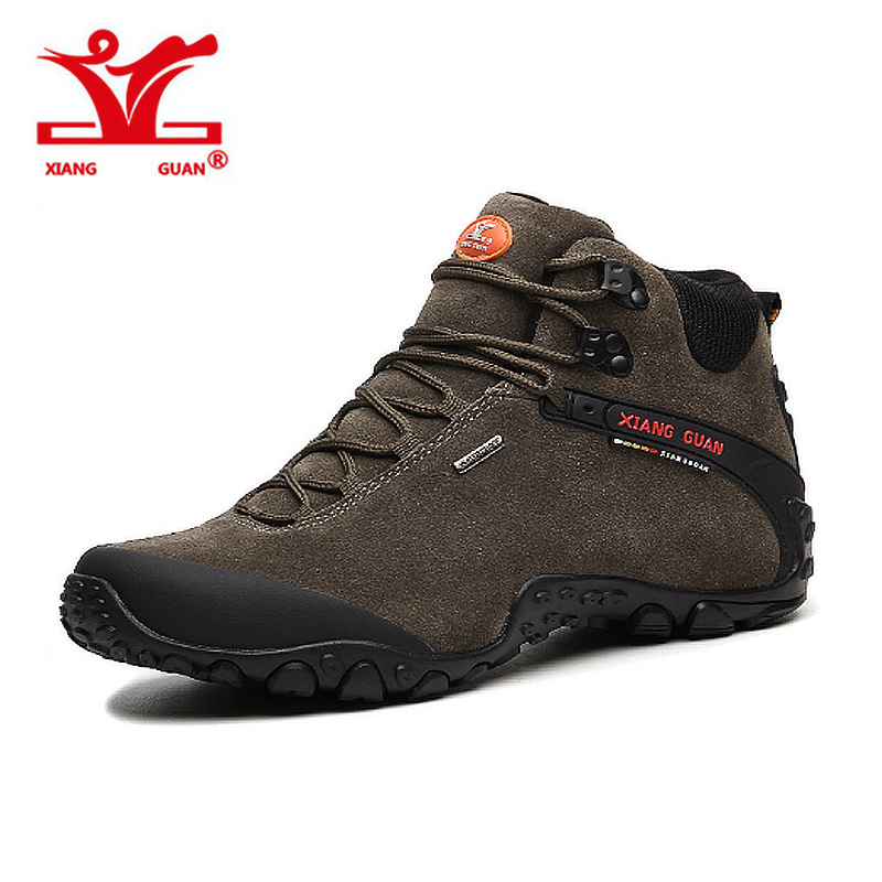 XIANGGUAN Original Brand Outdoor Sport Boots Hiking Shoes for Men Outdoors Walking Shoe Mens Trekking Boot Climbing Shoes Botas sale outdoor sport boots hiking shoes for men brand mens the walking boot climbing botas breathable lace up medium b m