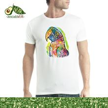 Dean Russo Macaw Animals Parrot Cubism Men T-shirt XS-5XL NewStreetwear Funny Print Clothing Hip-Tope Mans T-Shirt Tops Tees