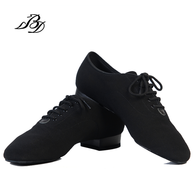 цена на Dance Shoes Modern Men Genuine Leather Brand Square BD 309 Party Ballroom Latin shoes 317 Soft cowhide Black BD 309 2.5 CM Hot