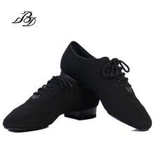 Обувь для танцев современный Для мужчин из натуральной кожи бренд квадратный BD 309 вечерние бальные танцевальная обувь 317 из мягкой яловой кожи Черный BD 309 2,5 см Лидер продаж