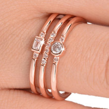 2020 Fashion Design Cubic Zirconia Rings For Women Rose Gold Silver Color Round Crystal Ring Female Anel Party Statement Jewelry 2020 fashion design cubic zirconia rings for women rose gold silver color round crystal ring female anel party statement jewelry