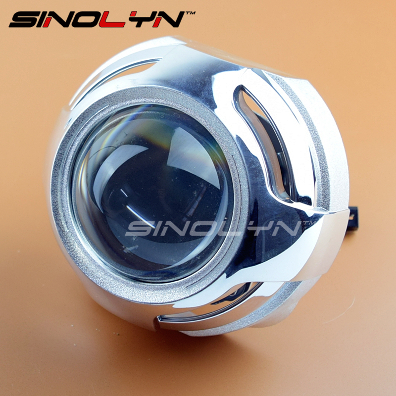 SINOLYN 3.0 inches Pro Metal HID Bi-xenon Projector Lens Headlight Retrofit Kit Xenon Headlamps H1 H4 H7 Car-styling Accessories