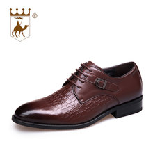 BACKCAMEL New Mens Shoes Business Dress Male Spring Autumn Increase Wear-resistant Leather Low Lace Formal Footwear