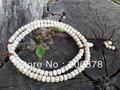 BRO615 Буддийский 108 Белый Лотос Бодхи Молитва Mala Браслеты 8 х 6 мм 9 х 7 мм Тибетский Баррель Pamda Starmoon Бодхи