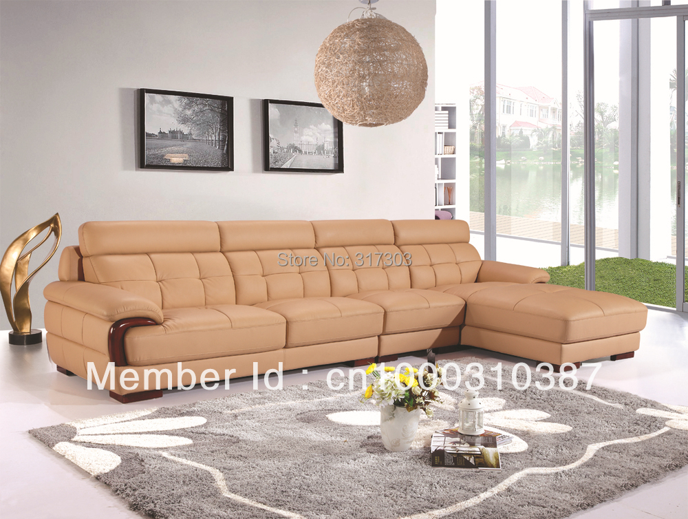 Morden sofa leather corner sofa livingroom furniture for Wholesale living room furniture