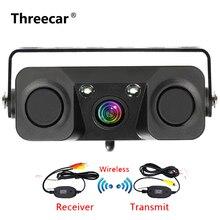 3 в 1 автомобиль Ночное Видение заднего вида камера радарный датчик парковки 170 градусов угол обзора IP67 с 2,4 г беспроводной приемник передатчик