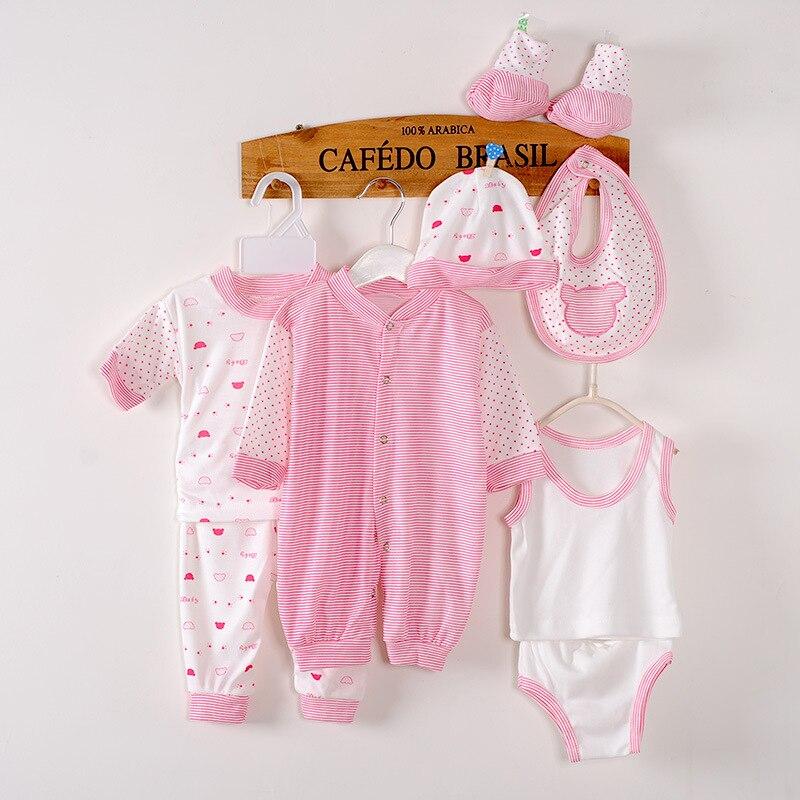 8Piece/0-3Months/Spring Autumn Newborn Baby Tracksuit 100% Cotton Kids Clothes Suit Unisex Infant Boys Girls Clothing Set BC1002
