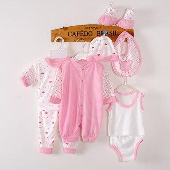 8Piece/0-3Months/Spring Autumn Newborn Baby Tracksuit 100% Cotton Kids Clothes Suit Unisex Infant Boys Girls Clothing Set BC1002 1