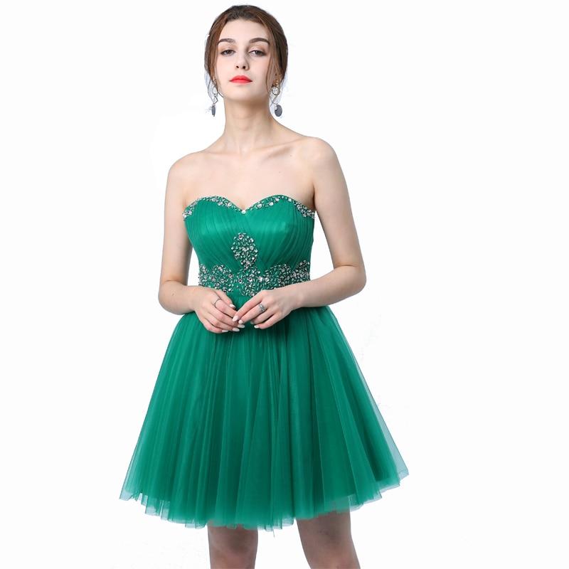 Ladybeauty/; платье для сестер; короткое вечернее платье; топ-труба; короткие дизайнерские вечерние платья на шнуровке; платье для выпускного вечера; - Цвет: Dark green