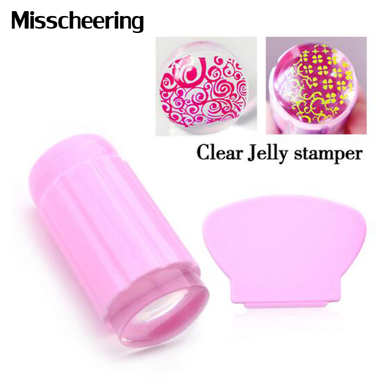 ∞New 1pcs 2.8cm Clear Jelly Stamper Transparent Silicone ...