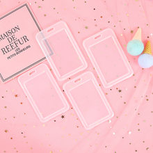 New Cute Students Creative Transparent Card Holders Portable Meal ID Transportation Bus Card Protection Key Chain Card Sets(China)