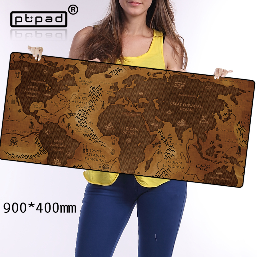 pbpad Fashion Old World Map musemåtte 2017 nye store pad til mus notebook computer musemåtte spil musemåtter til mus gamer