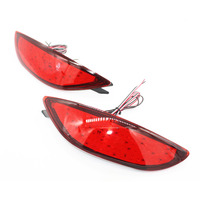 2x Red Lens LED Rear Bumper Reflector Light Tail Brake Parking Warning Lamp Fog Lights Fit