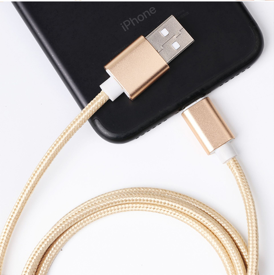 1m 1.5m 2m 5V2A Nylon Data Cable Fast Micro USB Charging For Data Transmission Cables Android Type-c iOS System For Mobile Phone (4)