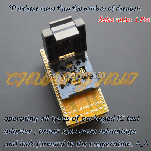 QFN48 to DIP48 Programmer Adapter WSON48 MLF48 DFN48 Adapter IC test socket Pitch=0.4mm size=6x6mm sony icd px333m