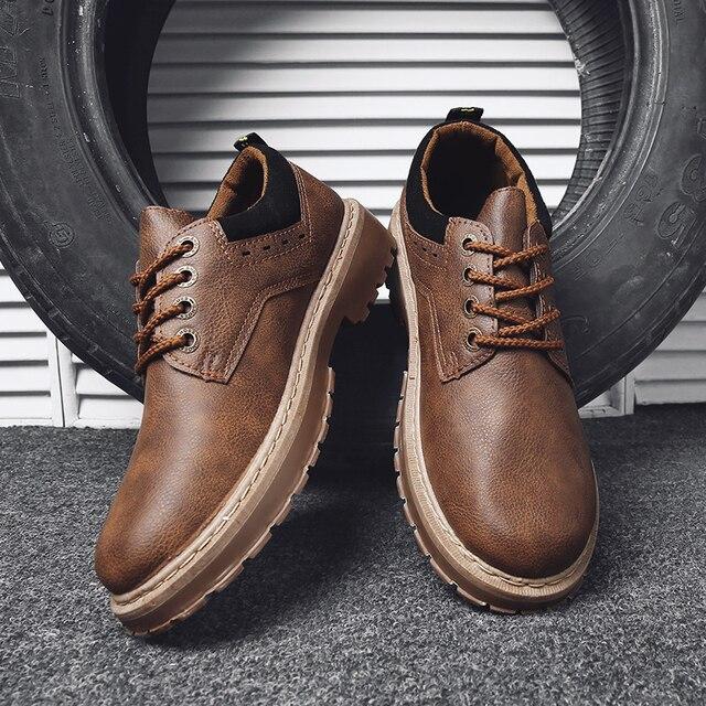 PINSV 2018 buty męskie zimowe jakości sznurowane mężczyźni kostki buty na zewnątrz ciepłe na co dzień mężczyźni buty zimowe botas de hombre